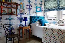 blue and white wallpaper kids u0027 bedroom ideas houseandgarden co uk
