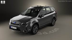 subaru forester touring xt 360 view of subaru forester xt touring 2016 3d model hum3d store