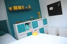 chambre garcon bleu décoration chambre enfant bleu et jaune