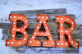 custom steel furniture vintage lighted letters and signs tagged