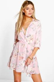 boohoo clothes boohoo womens floral shirt dress floral shirt dress