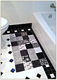 Gray And White Bathroom Rugs Try These 20 Black And White Bathroom Rugs And Get More Modern