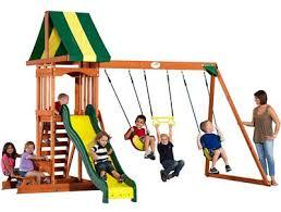 Best Backyard Swing Sets by Top 10 Best Wooden Swing Set Your Family Will Love In 2017