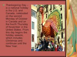 thanksgiving day thanksgiving day is a national in the