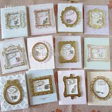 handmade 3d frame greeting card adorned with vintage charm ornaments
