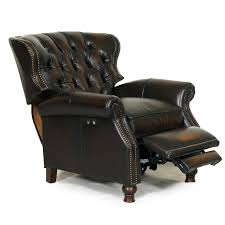 cheerful leather recliner chair new barcalounger presidential ii
