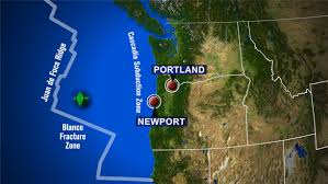 Oregon Tsunami Map by Series Of 6 Earthquakes Hit Off Oregon Coast