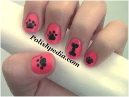 50 animal themed nail art designs to inspire you paw print nails