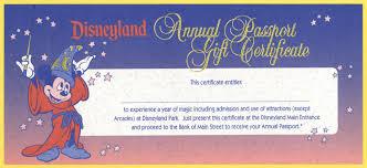 vintage disneyland tickets disneyland annual passport gift