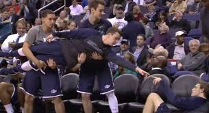 basketball bench celebrations nba benches can celebrate too funniest nba bench moments ny