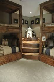 trophy amish cabins llc 10 x 20 bunkhouse cabinshown in the luxe lodge rustic bedroom other metro by deer cabin