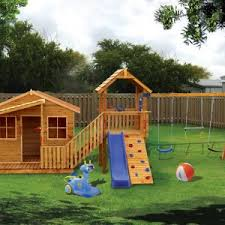 Backyard Jungle Gyms by Outdoor Ready For Action With Swingset For Pleasure Kids