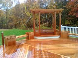 deck bench brackets seating u2014 doherty house