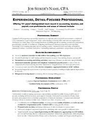 sample resume for bookkeeper accountant sample resume sample