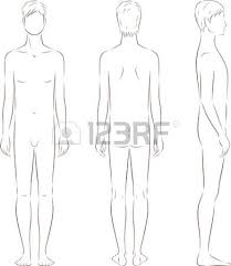 vector illustration of male figure different body types silhouette