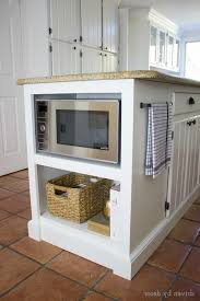inspirational kitchen island with microwave taste