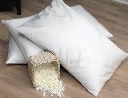 organic lifestyle shredded rubber pillow