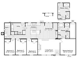 the kensington 4 ml30604k manufactured home floor plan or modular