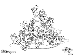 mickey mouse christmas coloring pages coloring page