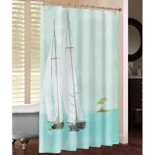 Sailboat Shower Curtains Tropical Shower Curtains Wayfair