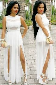 white plus size jumpsuit size slits lace chiffon jumpsuit maxi dress white