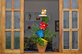 diy vertical herb garden made of pots cute idea for your kitchen