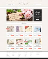wedding invitation websites wedding cards store opencart template 51799