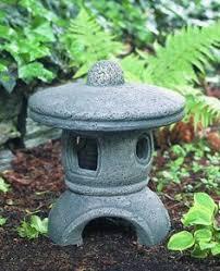 concrete garden pagoda statue pagoda garden ornament autumn