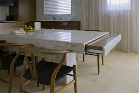 kitchen design ideas white marble fold down leaf island eat in