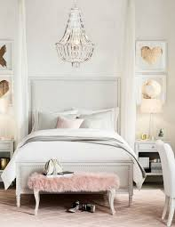Pink And White Bedrooms - teens bedroom decor pink accents the chandelier and the end