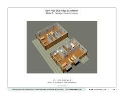 Dual Occupancy Floor Plans Blue Ridge Barn Model A