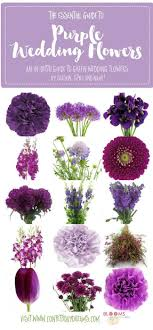 wedding flowers names names of purple flowers complete guide to purple wedding flowers