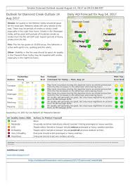 Washington State Wildfire Air Quality by Washington Smoke Information August 2017
