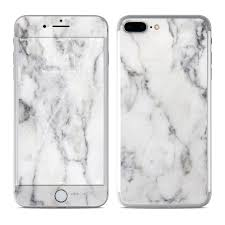 white marble apple iphone 7 plus skin white marble by marble collection