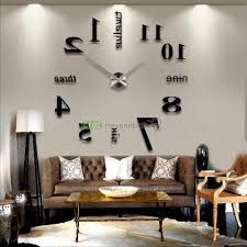 home design modern diy large wall clock 3d mirror effect sticker modern diy large wall clock 3d mirror effect sticker decal home with 81 charming large modern wall clocks