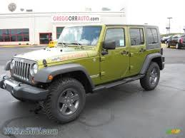 jeep unlimited green 2010 jeep wrangler unlimited mountain edition 4x4 in rescue green