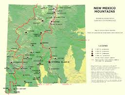 Map Of New Mexico With Cities by Peaklist Prominence Lists And Maps