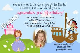 princess and pirate birthday invitations choose your princess
