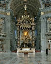 baldacchino by bernini the baldacchino the high altar and the chair of st photo