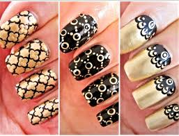 extremely amazing triple shaded nail art designs and trends