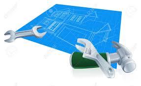 house blueprint construction concept of a blueprint for a new