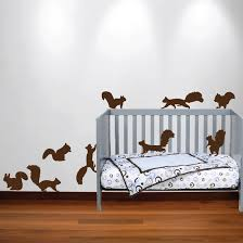 Wall Decals For Nursery Squirrel Wall Decal Nursery Sticker Set 1250 Innovativestencils