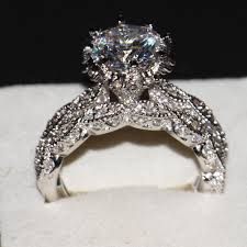 overstock wedding ring sets rings diamonique wedding sets silver wedding ring sets cz