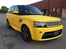 land rover matte matte yellow range rover sport autobiography vehicle