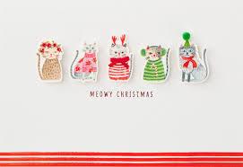 meowy christmas meowy christmas card greeting cards hallmark
