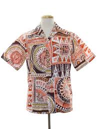 shades of orange vintage malihini 70 u0027s hawaiian shirt 70s malihini mens white