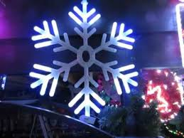 blue and white led snowflake