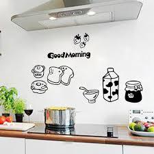 online get cheap kitchen wall stickers aliexpress com alibaba group milk bread kitchen fridge living room bedroom wall sticker