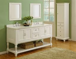 White Bathroom Double Vanity Ideas For Home Interior Decoration - White vanities for bathrooms