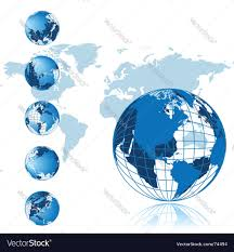 World Map Globe by World Map 3d Globe Series Royalty Free Vector Image
